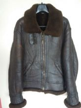 Vtg B-3 Young Sheepskin Leather Winter Flight Jacket Size Small